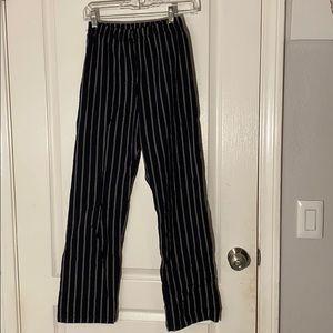 Brandy black & white striped pants